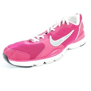 Nike Flex Tr Pink Lace Up Training Sneakers